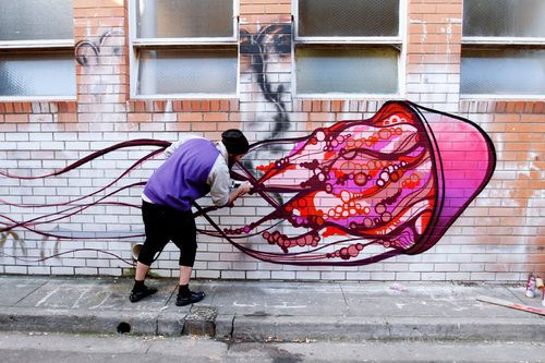 Jellyfish graffiti