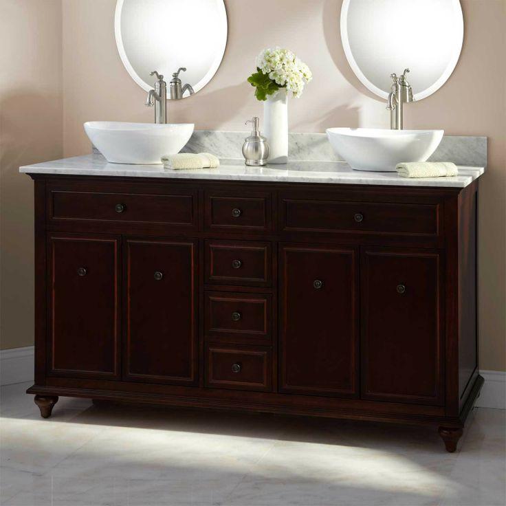 1690 60 weiss walnut double vessel sink vanity