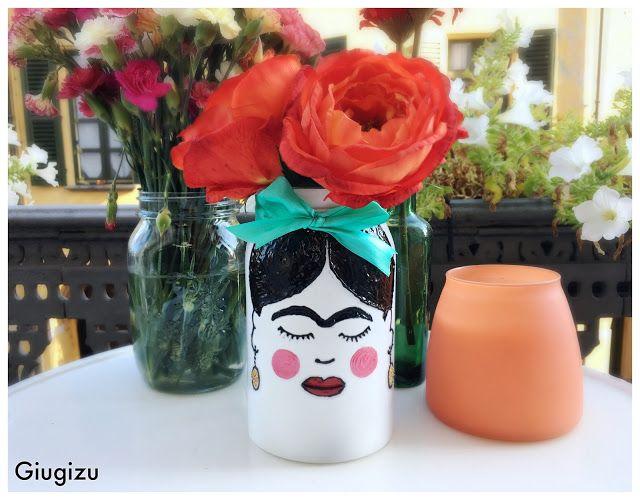 Giugizu's corner: D.I.Y. Frida Kahlo inspired Vase - Vaso fai da te ispirato a Frida Kahlo VIDEO TUTORIAL ON MY BLOG!!