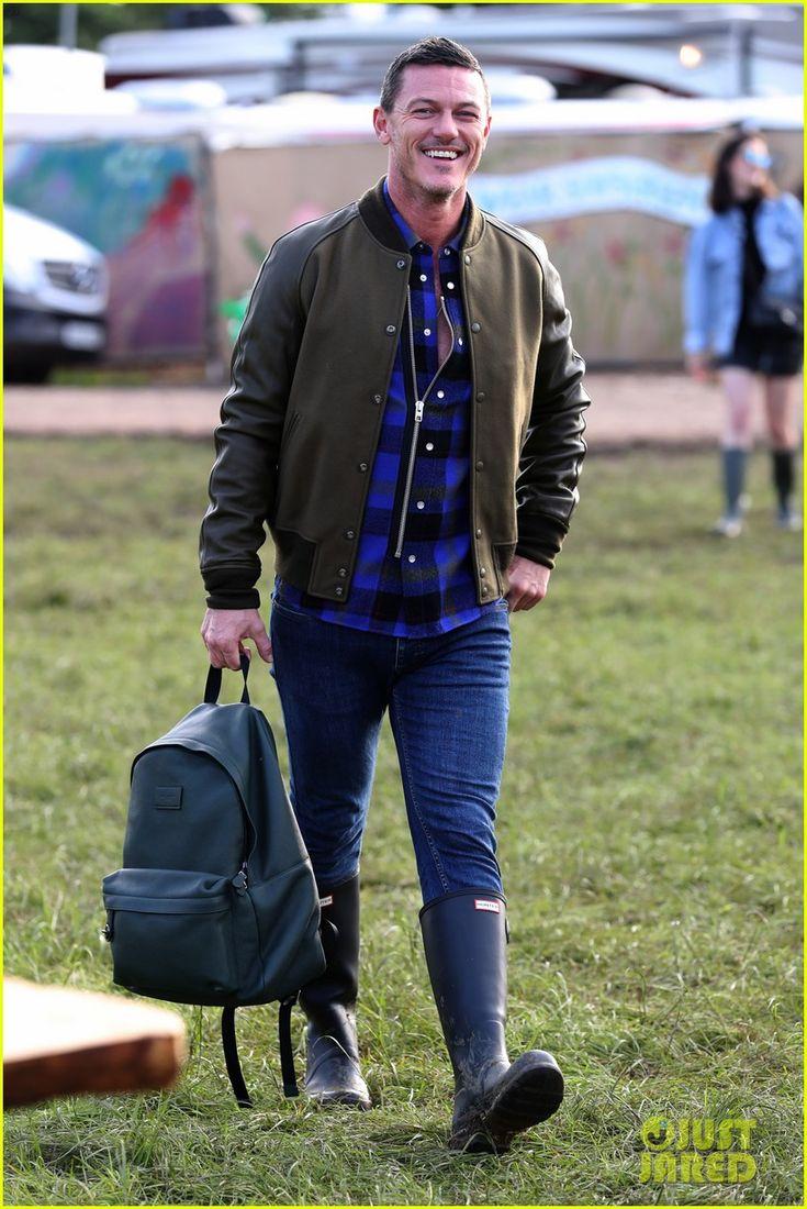Luke Evans Gets an Early Start to Glastonbury Weekend