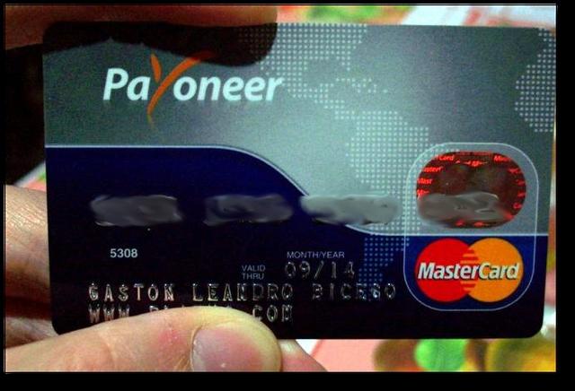 Artículo: http://impulsandoideas.net/179/como-cobrar-paypal-con-payoneer/ - Descubre como cobrar PayPal a través de una Cuenta Bancaria Virtual en USA. Obten una tarjeta MasterCard® internacional GRATIS.