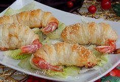 gamberi in sfoglia antipasto Natale Capodanno facile e veloce da fare. Ricetta antipasto con gamberi e pasta sfoglia. Ricetta antipasto di pesce per Natale