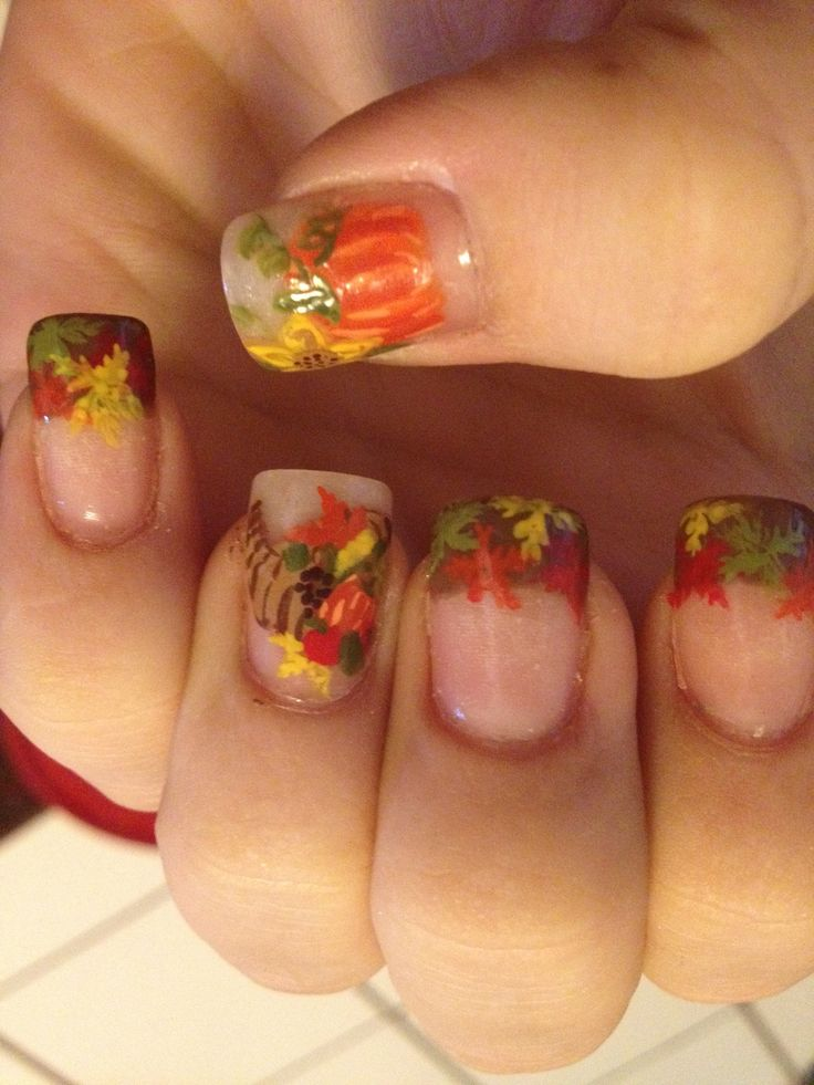 1000+ Images About Fall / Thanksgiving Nails On Pinterest