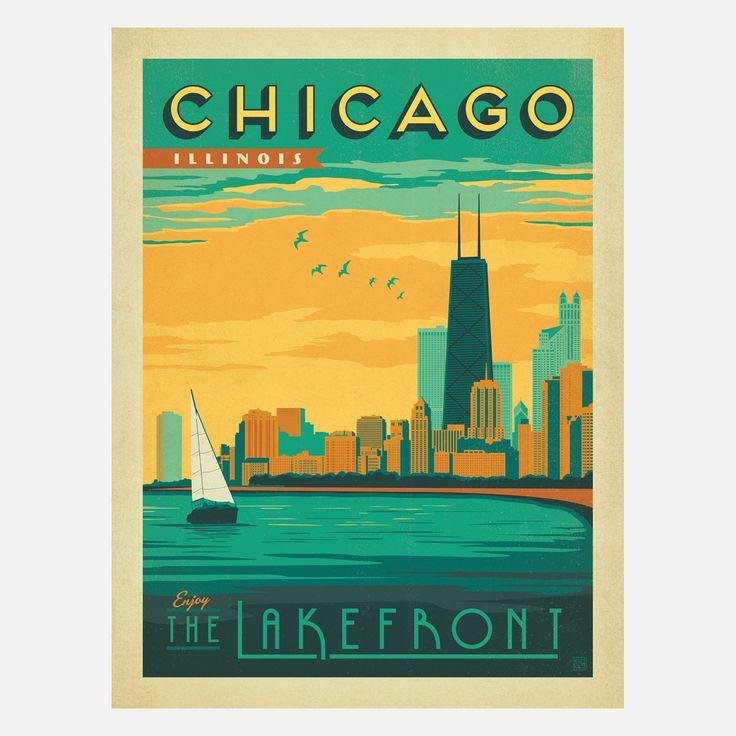 Chicago Lakefront 18x24