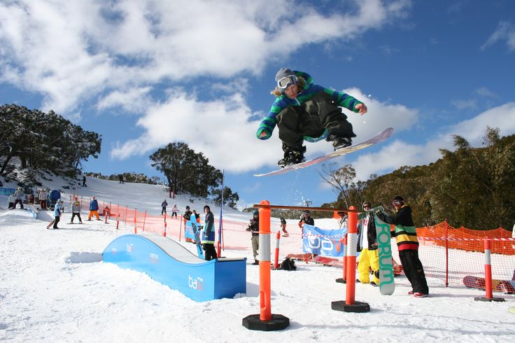 Terrain park comps during winter at Mt Baw Baw