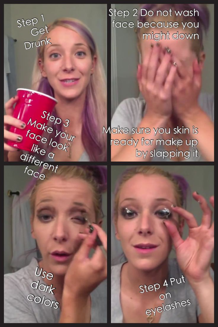 Morning drunk make up tutorial part 1 : Jenna Marbles Sexual Wednesda ...