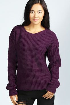 Annie Oversized Vintage Jumper at boohoo.com