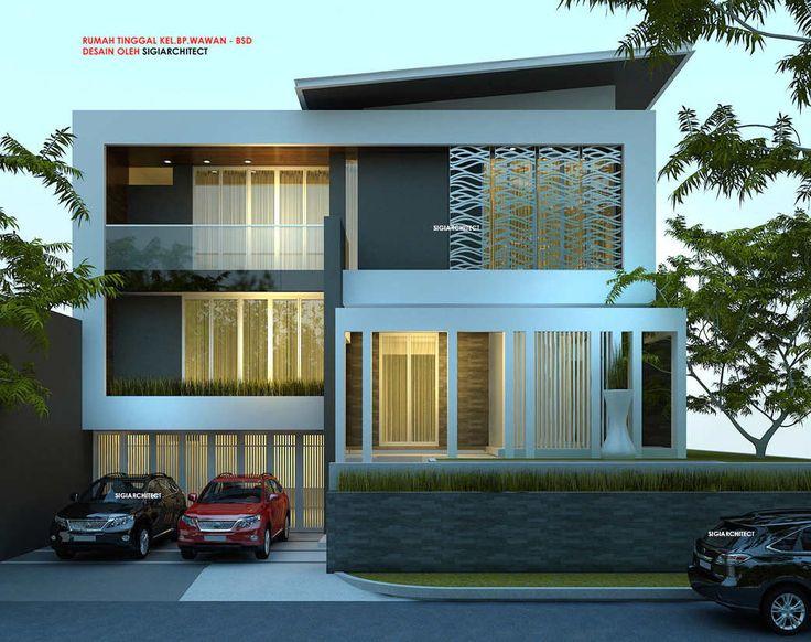 DESAIN RUMAH POJOK_BOX HOUSE_MODERN MINIMALIS_DEPAN