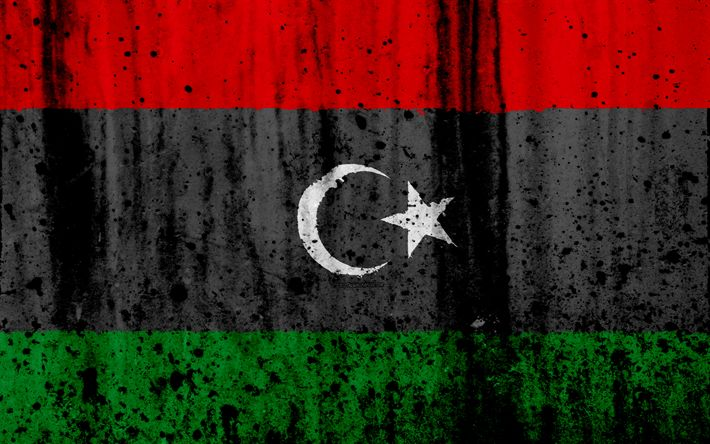 تحميل خلفيات الليبية العلم, 4k, الجرونج, علم ليبيا, أفريقيا, ليبيا, الرموز الوطنية, ليبيا العلم الوطني