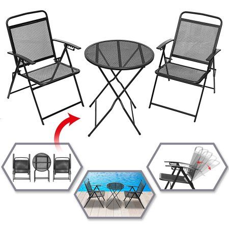 Patio Garden Outdoor Tables Chairs Bistro Set Table Chair Sets