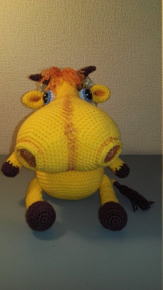 Solar Cow Crochet Cow Soft Cow Crochet Toy Toy Cow Gift For Kids