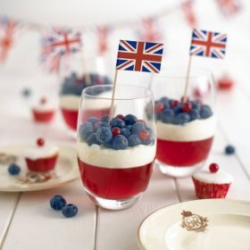 Join in on the celebrations and make a right royal treat! If you are making this for adults you could Rose wine instead of water!