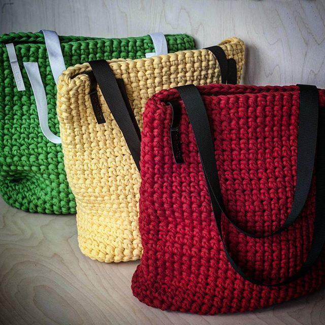 Stop. Ready. Go! #KnitKnotKiev #crochet #zpagettiyarn #zpagetti #tshirtyarn #tote #totebag #handmade #madeinukraine