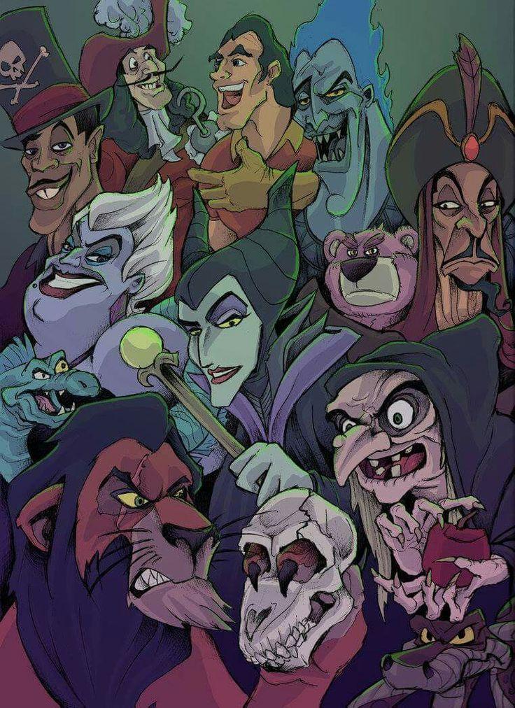 Отрицательные герои мультиков дисней