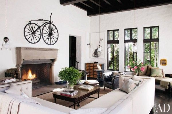 Sheryl Crow | Architectural Digest | Celebrity Homes | Spanish Colonial | Modern Interior | Historic Architecture | House Renovation