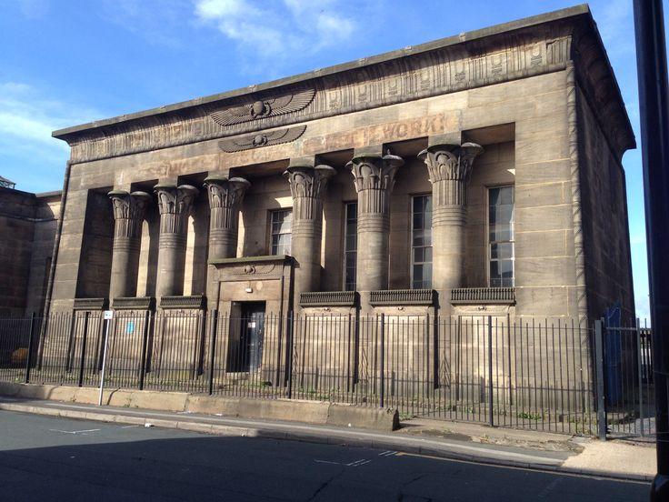 Temple mills 1838-43, Joseph Bonomi jun. Egyptian revival. John Marshalls Mills.