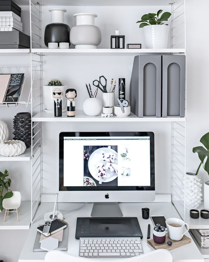 Home Office - Scandinavian Workspace | http://www.my-full-house.com |