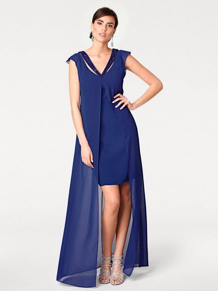 68317dffbf13c2 ASHLEY BROOKE by Heine Abendkleid mit Applikationen für 79,99€.  Effektvoller Lagen-