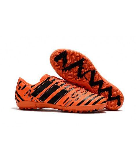 Adidas Messi Nemeziz 17.1 TF Suola Per Erba Sintetica Scarpe Da Calcio Arancione Nero
