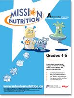 Mission Nutrition provides nutrition lessons from K-8. A teachers guide comes with it with great hands on activities and worksheets that connect to the Ontario curriculum.