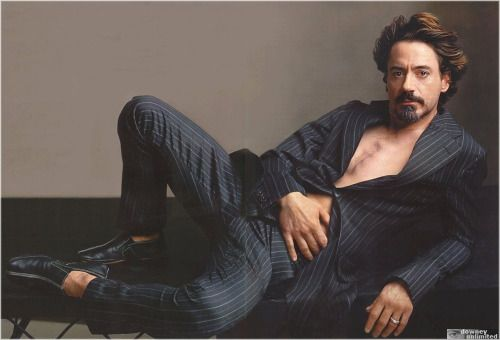 Robert Downey Jr <------- So, so much ridiculousness in this picture. But the hair is pretty epic.
