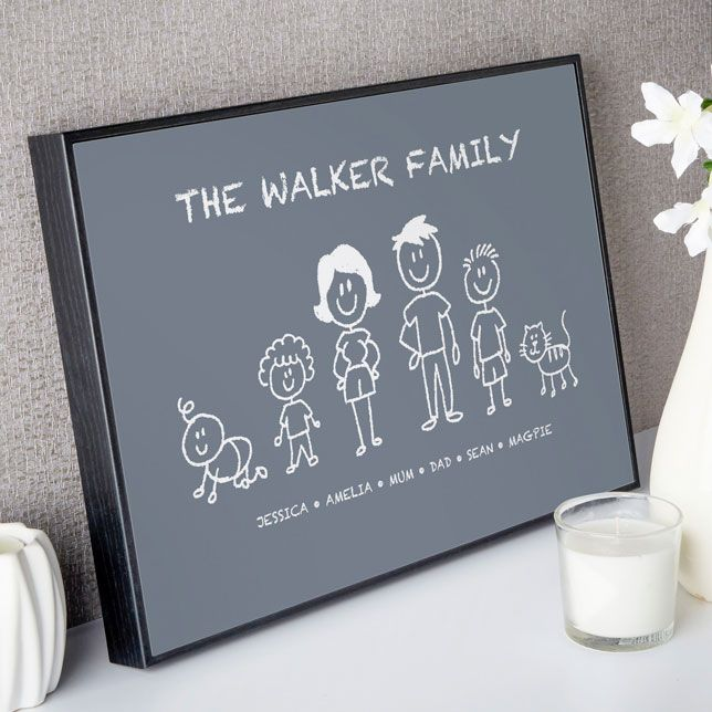 Make a custom print or canvas of your own stick family. Easy to Create & Preview On Screen Before You Buy. A One of a Kind Gift. Fast Free delivery. Create Now…