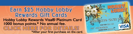 I love Hobby Lobby! I get my 40% coupon each week and try not to spend too much money! :)