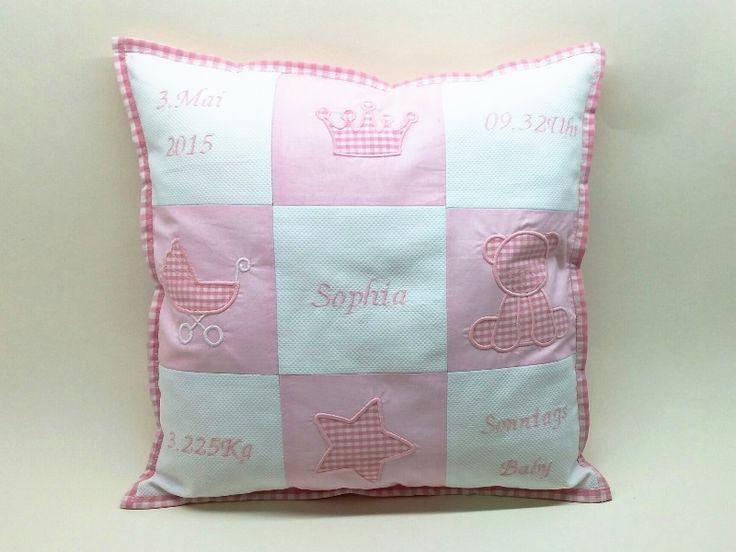 Memory Kissen für Sophie. Babyzimmer deko