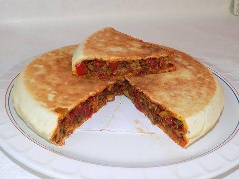فطيرة تركية بدون فرن / خبز محشي في المقلاة - YouTube