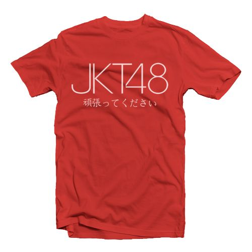 JKT48 66R t-shirt design by Bodex Clothing. The t-shirt with jkt 48 print in front (idol group). This red t-shirt made from cotton 20s and reguar fit, if you are a fan of jkt 48, you must have this hot item. IDR. 119.000
