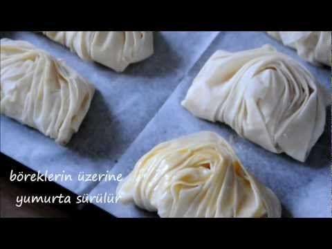 Midye Börek Tarifi - Nefis Yemek Tarifleri - YouTube.Börek mussel shaped.(Turkish)