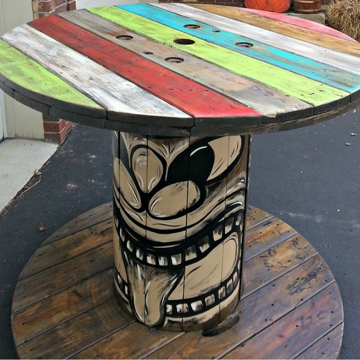 Best 20 cable reel table ideas on pinterest diy cable for Cable reel table
