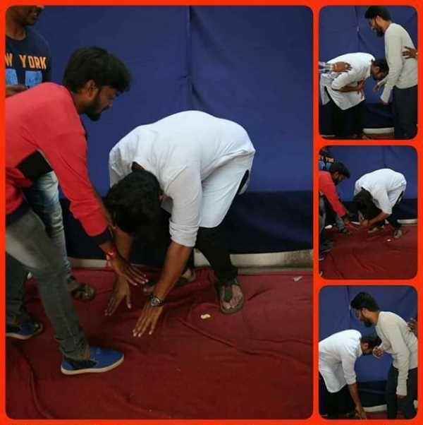 Sai Dharam Tej Copied Suriya's Touching Feet