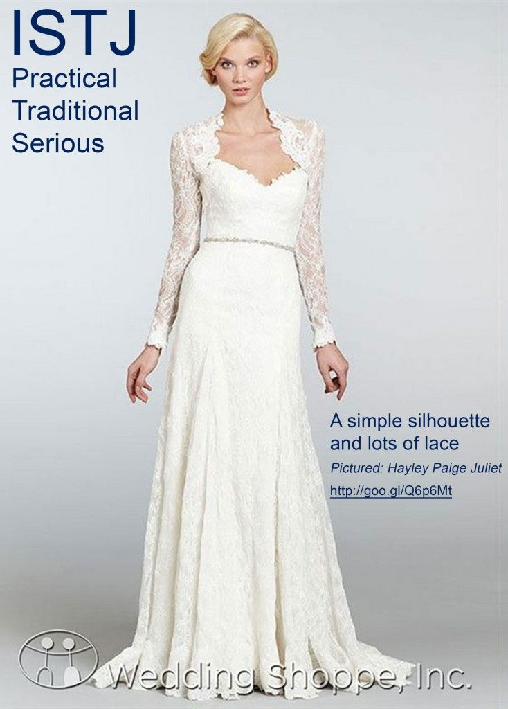Wedding Style Wedding Dress Shopping By Myers Briggs Personality Type Istj Wedding Fashion