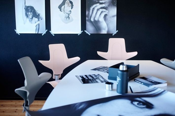 Creative Office With Pink And Grey Hag Capisco Puls Inspiregreatwork Scandinavian Design Office Inspiration Chair Workplace