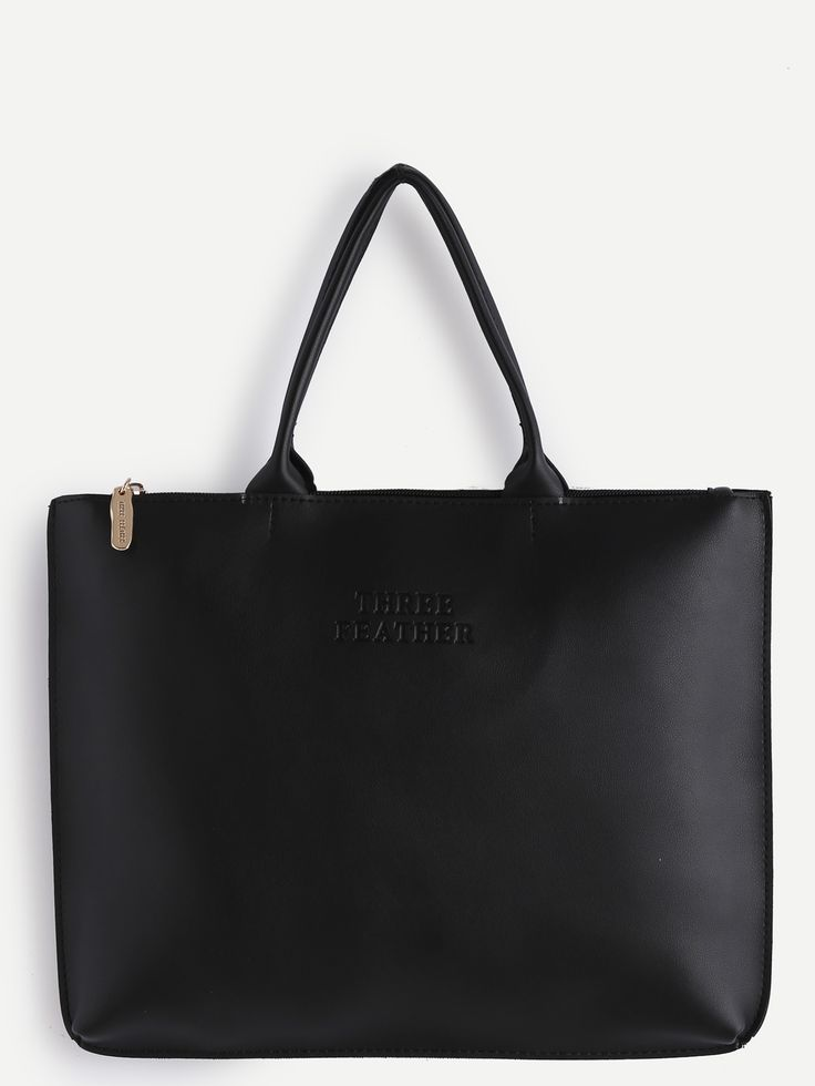 Shop Oversized Black PU Plain Tote Bag online. SheIn offers Oversized Black PU Plain Tote Bag & more to fit your fashionable needs.