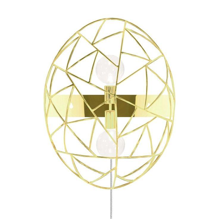 Globen Lighting Diamond Vägglampa Mässing - lavanille.com