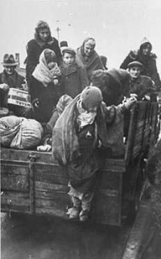 Carted out of Kraków Ghetto