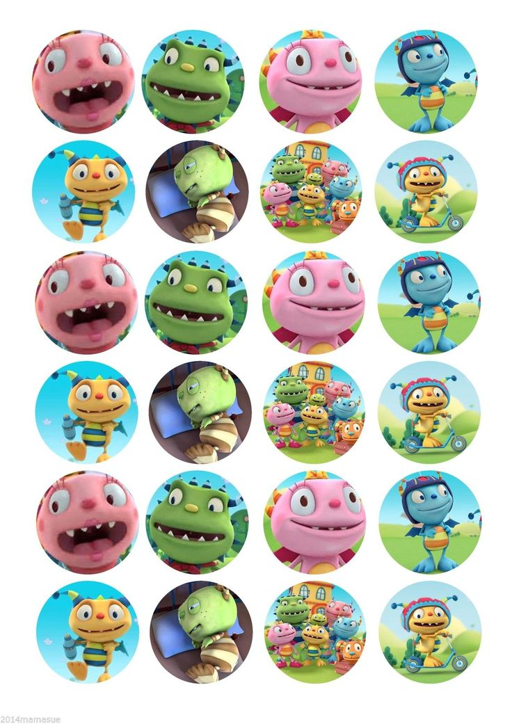 24 x HENRY HUGGLE MONSTER ROUND FAIRY CUPCAKE TOPPERS WAFER CARD RICE PAPER in Crafts, Cake Decorating | eBay