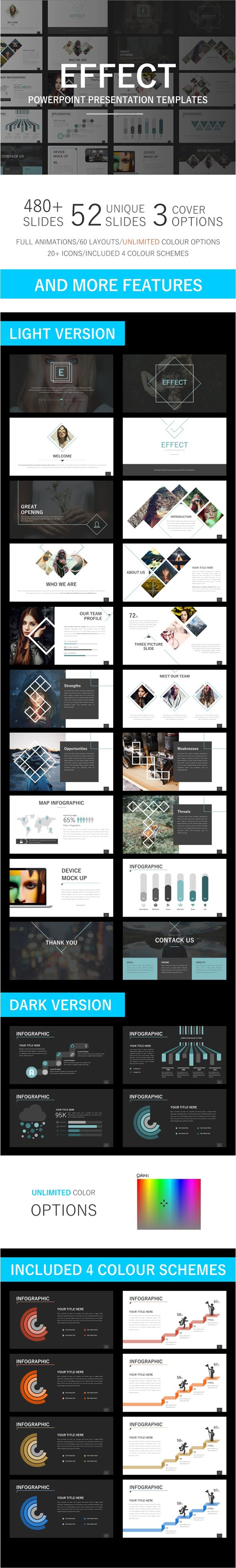 Effect - Powerpoint Template 52 Unique Slides