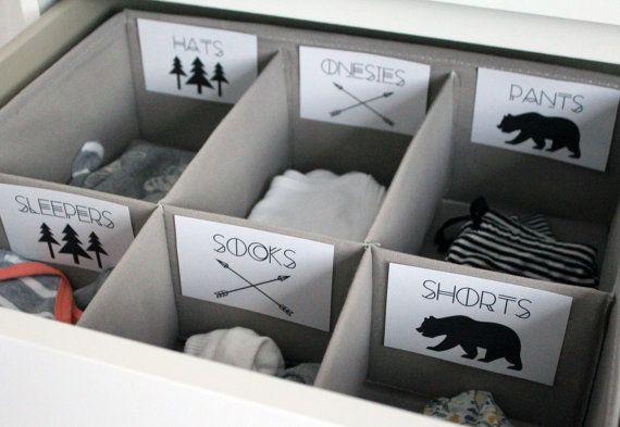 Abenteuer druckbare Baby Kinderzimmer Schublade Etiketten / Korb Etiketten – drucken Sie sich – Baby Girl, Baby Boy, Kinderzimmer Dekor, Kindergarten Organisation
