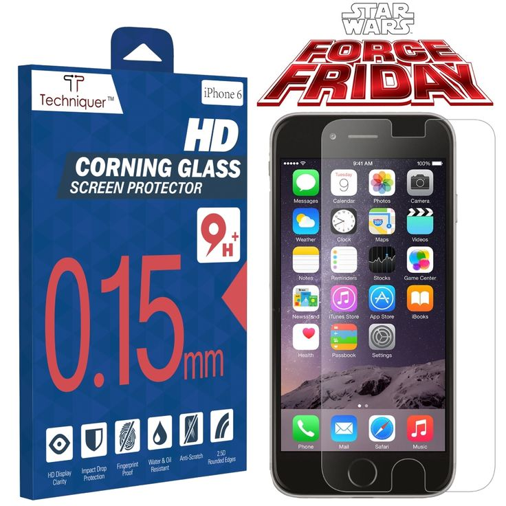 iPhone 6 Screen Protector - Force Friday Sale! http://www.amazon.com/Corning-Gorilla-Tempered-Protector-Thinnest/dp/B00RK7OPZC #iphone6screenprotector #techniquer