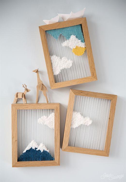 DIY Tissage : Petits paysages tissés (+ CONCOURS: vos places pour le Salon CSF!)