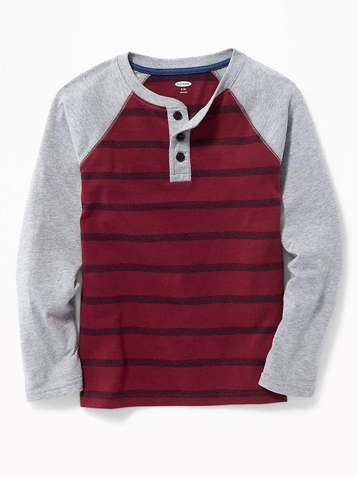 3dfa6804f04f Striped Raglan Henley for Boys