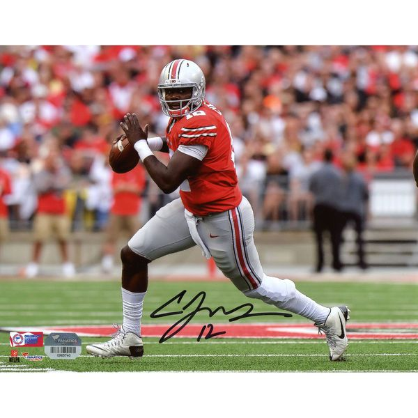 """Cardale Jones Ohio State Buckeyes Fanatics Authentic Autographed 8"""" x 10"""" Running In Red Photograph - $89.99"""