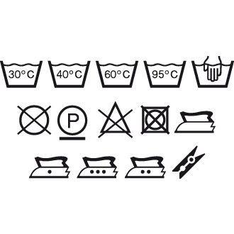 Tvättsymboler 14 st