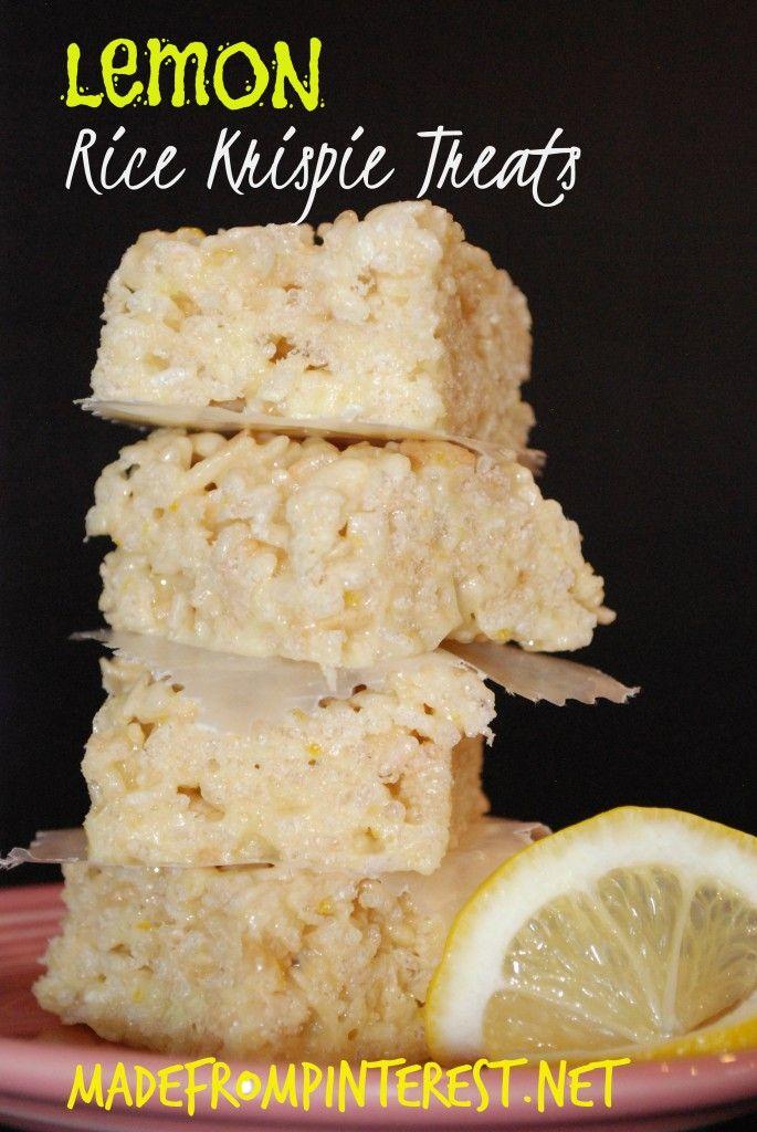 Lemon Rice Krispie Treats