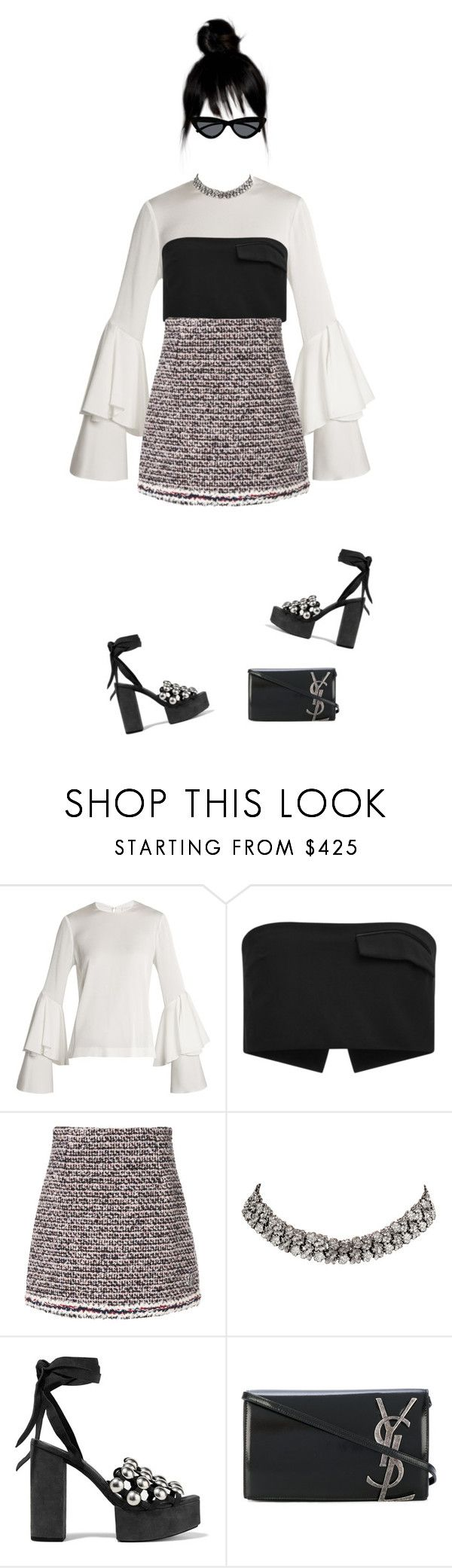 """""""rocker chic"""" by andy993011 on Polyvore featuring Galvan, Josh Goot, Moncler Gamme Rouge, Carrera y Carrera, Alexander Wang, Yves Saint Laurent and Le Specs"""