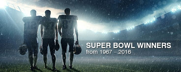 Super Bowl Winners From 1967 – 2016