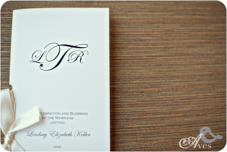 @Inviting Luxury I like this wording for the wedding programs
